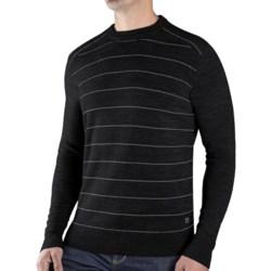 SmartWool Lightweight Stripe Sweater - Merino Wool (For Men) in Charcoal Heather