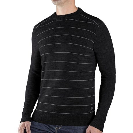 SmartWool Lightweight Stripe Sweater - Merino Wool (For Men) in Charcoal Heather