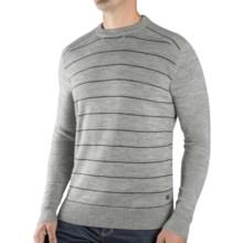 SmartWool Lightweight Stripe Sweater - Merino Wool (For Men) in Silver Grey Heather - Closeouts