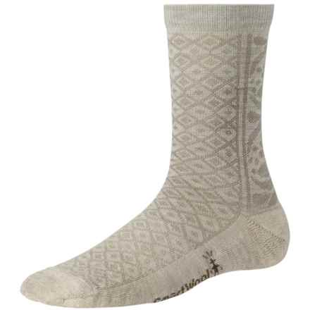 SmartWool Lily Pond Pointelle Socks - Merino Wool, Crew (For Women) in Natural Heather - 2nds
