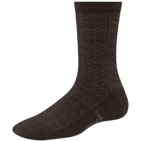 SmartWool Lily Pond Pointelle Socks - Merino Wool (For Women) in Chestnut Heather