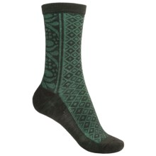 SmartWool Lily Pond Pointelle Socks - Merino Wool (For Women) in Forest - 2nds