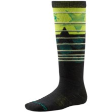 SmartWool Lincoln Loop Ski Socks - Merino Wool, Over the Calf (For Little and Big Kids) in Black - Closeouts
