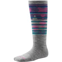 SmartWool Lincoln Loop Ski Socks - Merino Wool, Over the Calf (For Little and Big Kids) in Light Gray - Closeouts