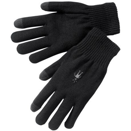 SmartWool Liner Gloves - Merino Wool (For Men and Women) in Black