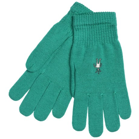 SmartWool Liner Gloves - Merino Wool (For Men and Women) in Mint