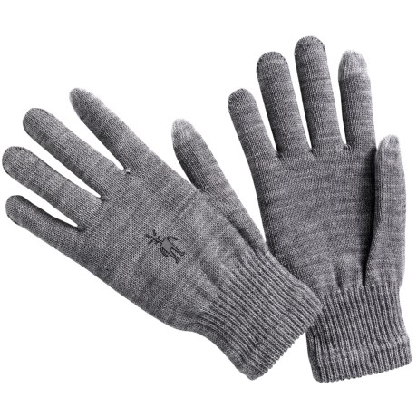 SmartWool Liner Gloves - Merino Wool (For Men and Women) in Silver Grey Heather