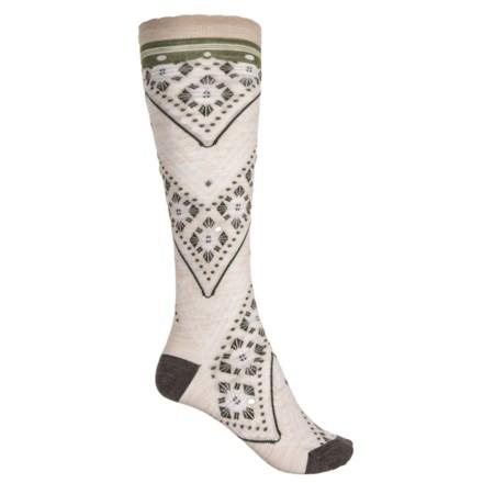 b20778aed57 SmartWool Lingering Lace Knee High Socks - Merino Wool