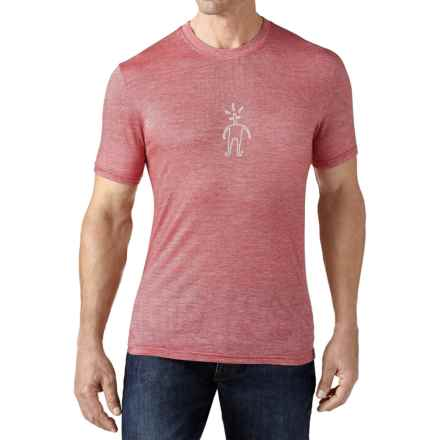 SmartWool Little Guy T-Shirt - Merino Wool, Short Sleeve (For Men) in Bright Red - Closeouts