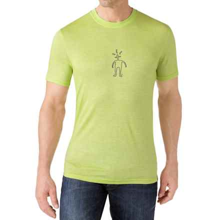 SmartWool Little Guy T-Shirt - Merino Wool, Short Sleeve (For Men) in Smartwool Green - Closeouts