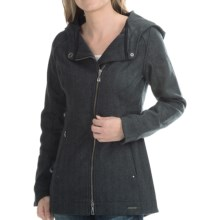 SmartWool Long Campbell Creek Hooded Jacket (For Women) in Charcoal Heather - Closeouts