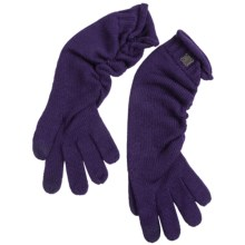 SmartWool Long Ribbon Touch-Screen Gloves - Merino Wool (For Women) in Imperial Purple - 2nds