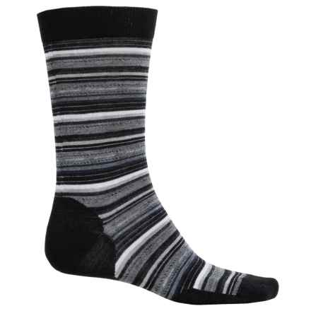 SmartWool Margarita Socks - Merino Wool, Crew (For Men) in Black/Medium Gray Heather - Closeouts