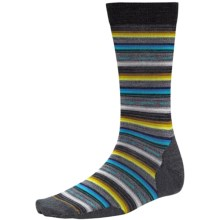 SmartWool Margarita Socks - Merino Wool, Crew (For Men) in Charcoal - Closeouts