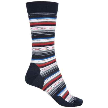 SmartWool Margarita Socks - Merino Wool, Crew (For Men) in Deep Navy Heather/Medium Gray Heather - Closeouts
