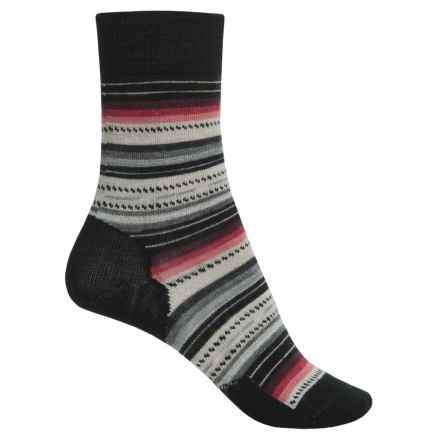 SmartWool Margarita Socks - Merino Wool, Crew (For Women) in Black Charcoal Heather - Closeouts