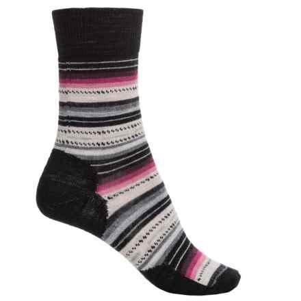 SmartWool Margarita Socks - Merino Wool, Crew (For Women) in Charcoal - Closeouts