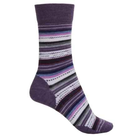 SmartWool Margarita Socks - Merino Wool, Crew (For Women) in Desert Purple Heather - Closeouts