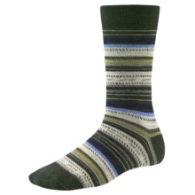 SmartWool Margarita Socks - Merino Wool, Crew (For Women) in Forest - Closeouts