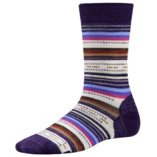 SmartWool Margarita Socks - Merino Wool, Crew (For Women) in Imperial Purple - Closeouts