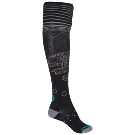 SmartWool Marigold Maiden Socks - Merino Wool, Over the Knee (For Women) in Black