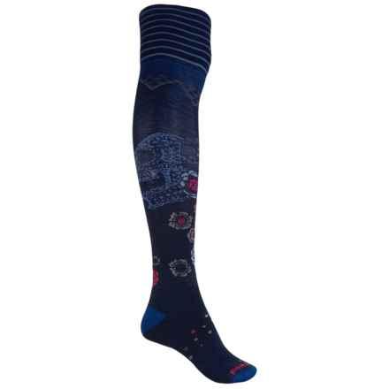 SmartWool Marigold Maiden Socks - Merino Wool, Over the Knee (For Women) in Deep Navy Heather - Closeouts