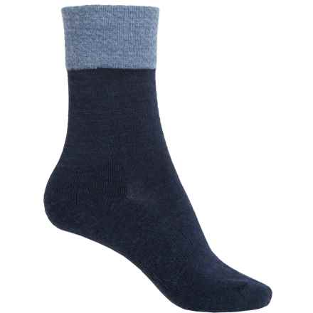 SmartWool Marled Best Friend Socks - Merino Wool, Crew (For Women) in Deep Navy Heather - 2nds
