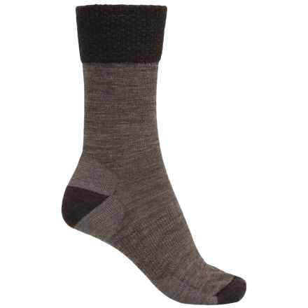SmartWool Marled Best Friend Socks - Merino Wool, Crew (For Women) in Taupe - 2nds