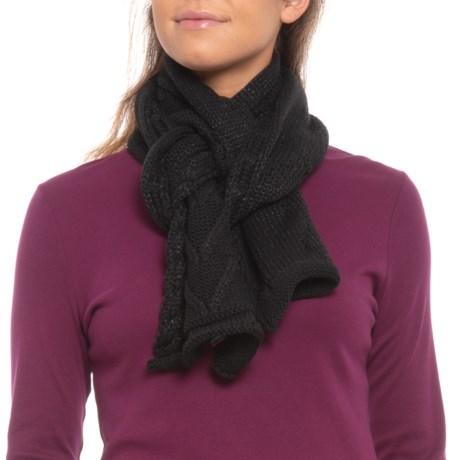 SmartWool Marquette Scarf - Merino Wool (For Women) in Black