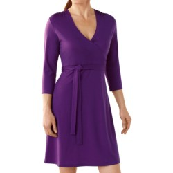 SmartWool Maybell Dress - Merino Wool, 3/4 Sleeve (For Women) in Deep Sea