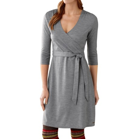 SmartWool Maybell Dress - Merino Wool, 3/4 Sleeve (For Women) in Silver Gray Heather