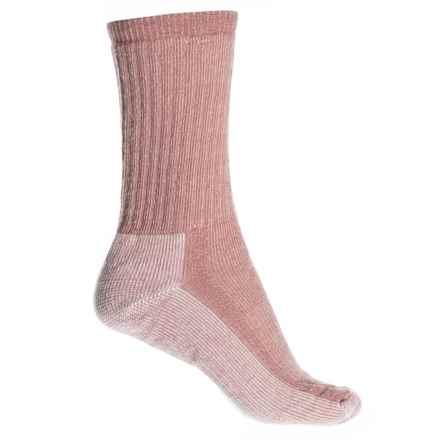 SmartWool Medium Cushion Hiking Socks - Merino Wool Blend, Crew (For Women) in Meadow Mauve - Closeouts