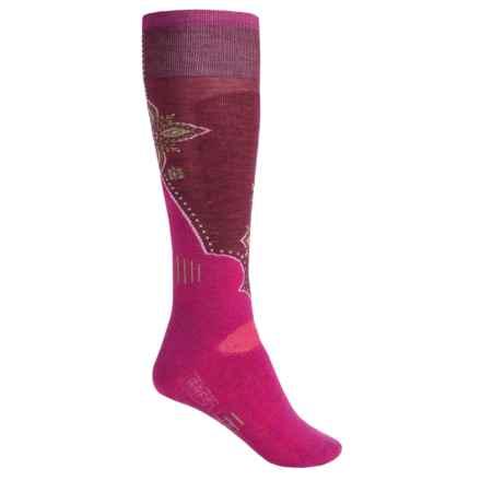 SmartWool Medium Cushion Ski Socks - Merino Wool, Over the Calf (For Women) in Berry - 2nds
