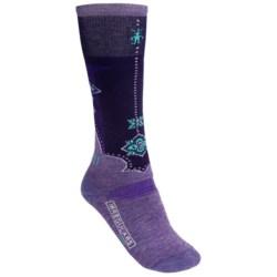 SmartWool Medium Cushion Ski Socks - Merino Wool, Over the Calf (For Women) in Lavendar