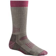 SmartWool Medium Hunting Socks - Merino Wool, Crew (For Women) in Taupe/Berry - 2nds