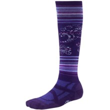 SmartWool Medium Ski Socks - Merino Wool, Midweight, Over-the-Calf (For Women) in Imperial Purple - 2nds