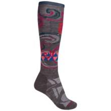 SmartWool Medium Ski Socks - Merino Wool, Midweight, Over-the-Calf (For Women) in Medium Gray - 2nds