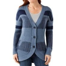 SmartWool Meran Long Cardigan Sweater - Merino Wool (For Women) in Ink Heather - Closeouts