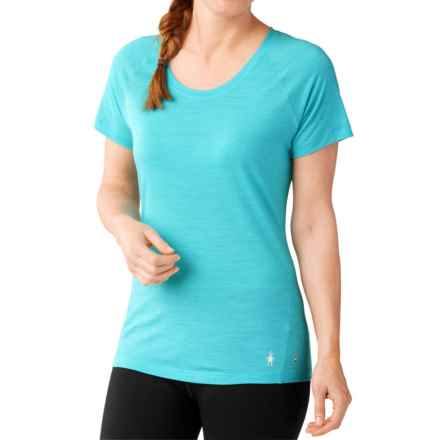 SmartWool Merino 150 Base Layer Top - Merino Wool, Short Sleeve (For Women) in Light Capri - Closeouts