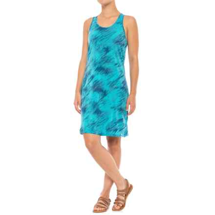 SmartWool Merino 150 Pattern Dress - Racerback, Sleeveless (For Women) in Light Capri - Closeouts