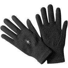 SmartWool Merino Wool Liner Gloves - Touchscreen Compatible (For Men and Women) in Black - 2nds