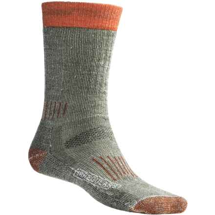 SmartWool Merino Wool Midweight Hunting Socks (For Men and Women) in Olive/Orange - 2nds