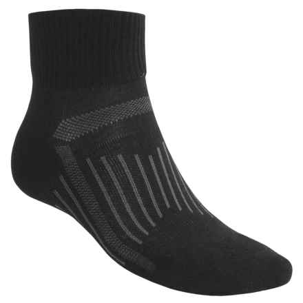 SmartWool Merino Wool Walking Socks - Quarter Crew (For Men and Women) in Black - 2nds