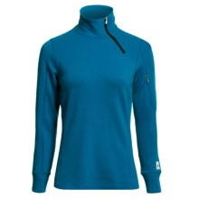 SmartWool MerinoMax Asymmetrical Base Layer Top - Merino Wool, Zip Neck, Long Sleeve (For Women) in Arctic Blue - Closeouts