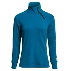 SmartWool MerinoMax Asymmetrical Base Layer Top - Merino Wool, Zip Neck, Long Sleeve (For Women) in Arctic Blue