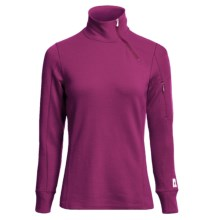 SmartWool MerinoMax Asymmetrical Base Layer Top - Merino Wool, Zip Neck, Long Sleeve (For Women) in Berry - Closeouts