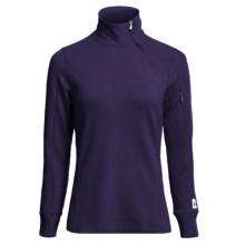 SmartWool MerinoMax Asymmetrical Base Layer Top - Merino Wool, Zip Neck, Long Sleeve (For Women) in Imperial Purple - Closeouts