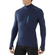 SmartWool Merinomax Base Midlayer Top - Merino Wool, Zip Neck, Long Sleeve (For Men) in Deep Navy - Closeouts