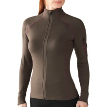 SmartWool MerinoMax Midlayer Jacket - Merino Wool, Full Zip (For Women) in Taupe - Closeouts