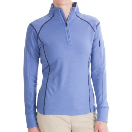 Smartwool merinomax shirt merino wool zip neck long for Merino wool shirt womens